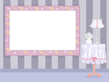 Frame Illustration with a Shabby Chic Theme Illustration