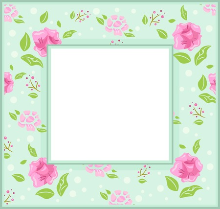 rose frame: Frame Illustration with a Shabby Chic Theme Illustration