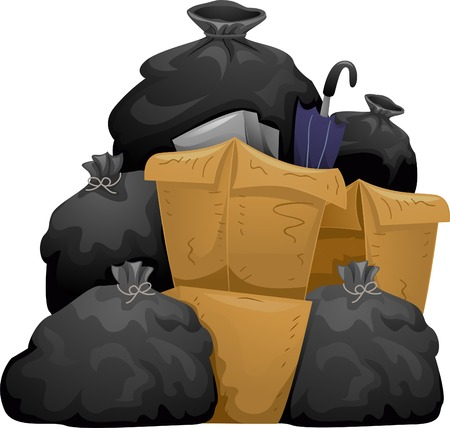 garbage bag: Garbage Bags Illustration