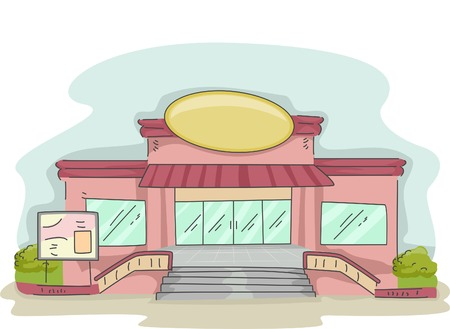 frontage: Illustration Featuring a Cafe Operating Inside a Supermarket