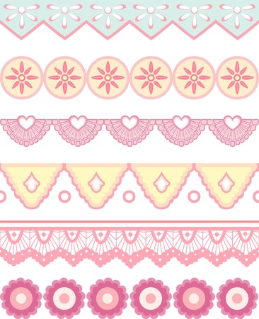 llustration Featuring Dividers with a Shabby Chic Design