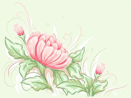 water lilies: Shabby Chic Ilustraci�n-Tem�tica Con Nen�fares