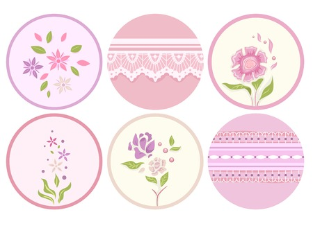 Illustration of Ready to Print Labels with a Shabby Chic Design Vector