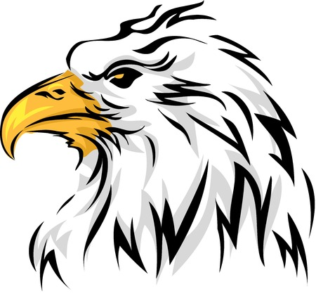 Mascot Illustration Featuring an Eagle Vector