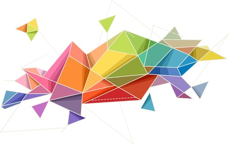 accent: Abstract Illustration Featuring Random Geometric Patterns Illustration