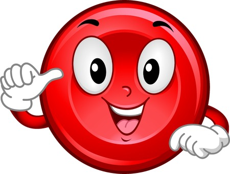 Mascot Illustration Featuring a Smiling Red Blood Cell Vector
