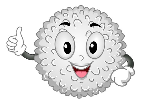 hematology: White Blood Cell MascotMascot Illustration Featuring a White Blood Cell Giving a Thumbs Up