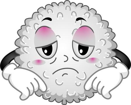 Mascot Illustratie Met een Verzwakking witte bloedcel