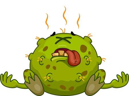 inmunidad: Ilustración Mascota Con una Germ Dead Vectores