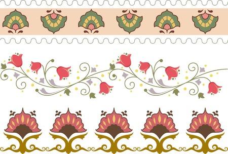 margins: Border Illustration Featuring Different Floral Designs Illustration