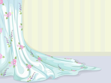 Illustration of a Fabric with a Shabby Chic Design