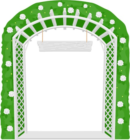 flowered: Illustration of a Trellis Acting as a Welcome Arch