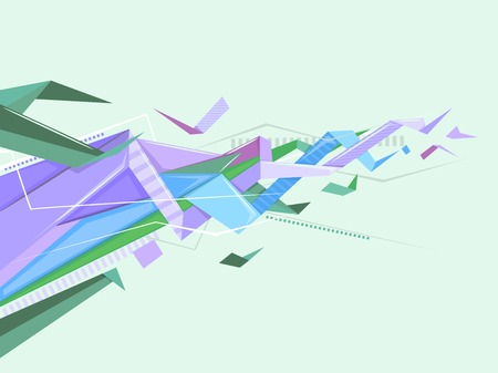 edgy: Background Illustration Featuring Abstract Geometric Patterns