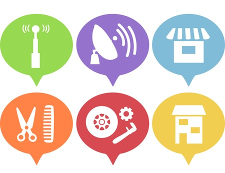 telco: Illustration Featuring Various Business Icons