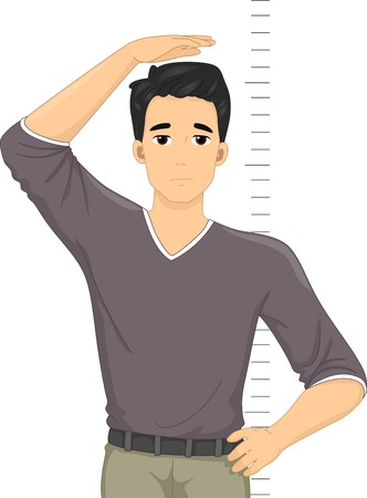 Illustration of a Guy Despairing Over His Height Illustration