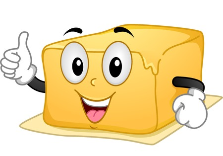 Mascot Illustration Featuring a Butter Giving a Thumbs Up
