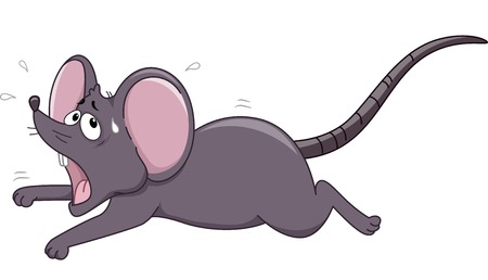 Illustration of a Rat Running Away