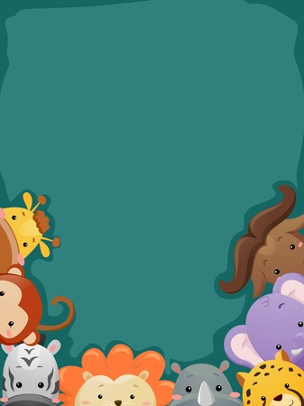 cropped: Background Illustration Featuring a Cropped Shot of Safari Animals
