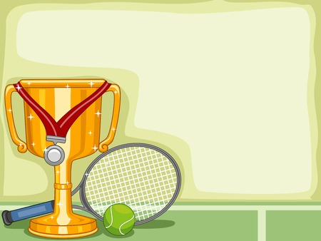 Background Illustration Featuring a Cricket Trophy Vector