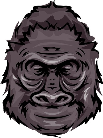 the thick forest: Illustration Featuring a Gorilla Illustration