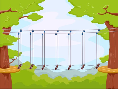 clip arts: Illustration Featuring an Obstacle Course Illustration