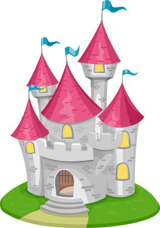 Illustration Featuring a Medieval Castle Vector