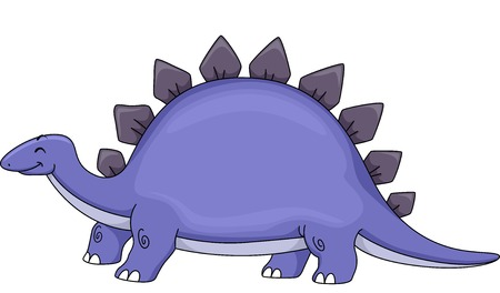 stegosaurus: Illustration Featuring a Cute Stegosaurus Illustration