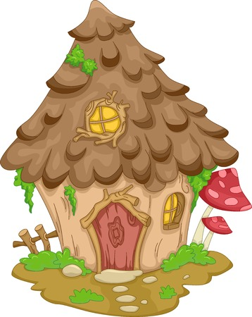 gnome: Illustration Featuring a Cute Gnome House