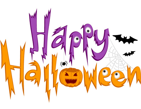 Text Illustration Featuring Halloween Greetings Vector