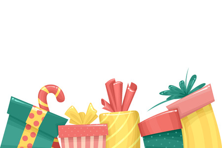margins: Border Illustration Featuring Christmas Gifts
