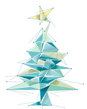 Abstract Illustration Featuring a Christmas Tree Vector