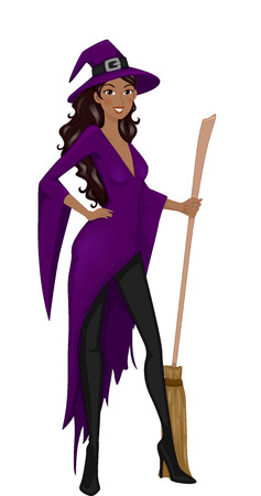 cosplay: Illustration Featuring a Woman Wearing a Witch Costume