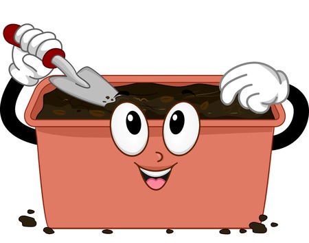 cartoonize: Mascot Illustration Featuring a Compost Bin