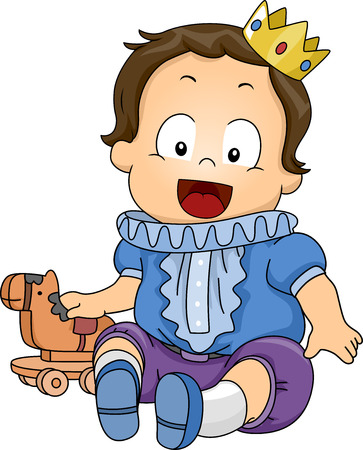 tot: Illustration Featuring a Baby Dressed as a Prince