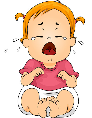 Illustration Featuring a Baby Crying Out Loud