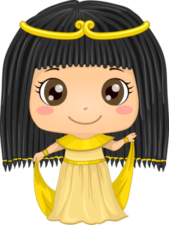 featuring: Illustration Featuring a Girl Wearing an Egyptian Costume