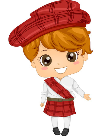 cosplay: Illustration Featuring a Boy Wearing a Scottish Costume