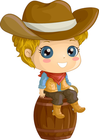 cosplay: Illustration Featuring a Boy Wearing a Cowboy Costume