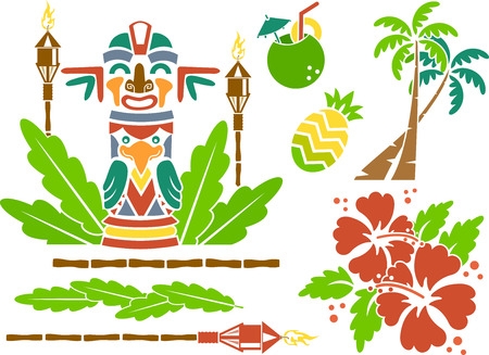 colada: Illustration Featuring Stencils of Hawaii Related Items Illustration