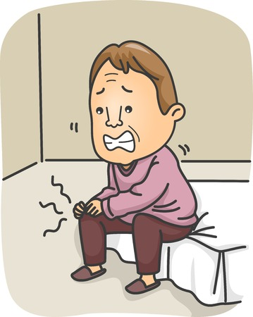 Illustration of a Man Having Joint Pains