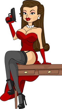 Illustration Featuring a Mafia Mistress Illustration
