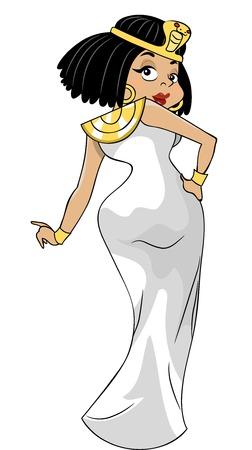foxy girls: Illustrazione con una donna che indossa un abito da Cleopatra Inspired