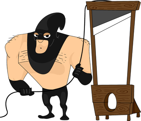 capital punishment: Illustration Featuring a Bulky Executioner Illustration