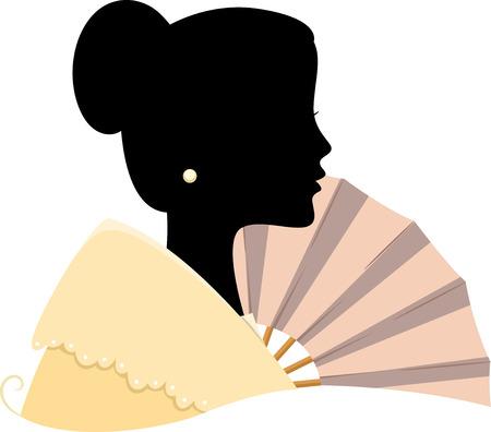 filipino: Illustration Featuring the Silhouette of a Filipino Woman