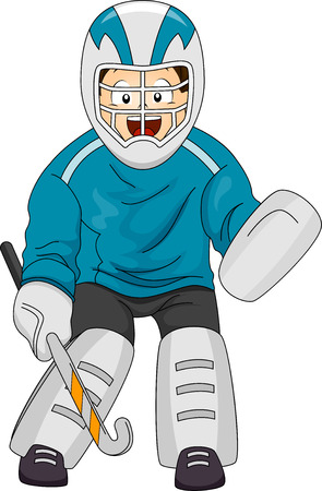 Illustration Featuring a Field Hockey Goalkeeper Vector