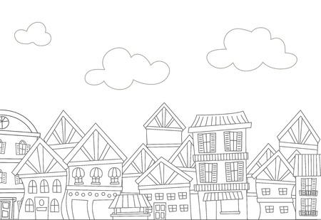 Ilustración Que Ofrece Una Ciudad Llena De Edificios Residenciales ...