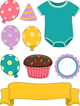 associated: Illustration of Different Items Commonly Associated With Birthdays