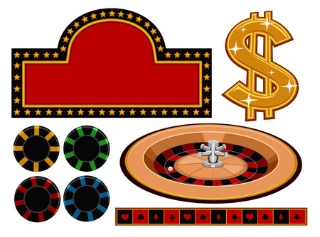 associated: Illustration of Different Items Usually Associated With Casinos Illustration