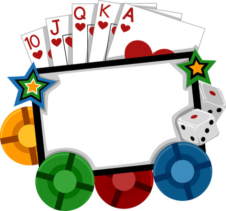 implements: Frame Illustration Featuring Different Gambling Implements