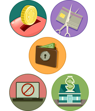 associated: Icon Illustration of Different Items Commonly Associated With Savings Illustration